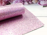 """Искусственная кожа """"соты"""" цв. розовый хамелеон 20х30см."""