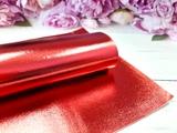 Искусственная кожа глянцевая цв. красный 20х30см.