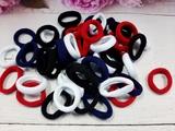 Резинки бесшовные цв. ассорти(белый+синий+черный+красный) D 30мм. (50шт.)