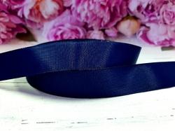 Репсовая лента цв. темно-синий 25 мм.