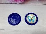 Крышечка пластик цв. синий D 25 мм.(внутр.)