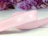 Репсовая лента с полосой и люрексом серебро цв. розовый 25 мм.