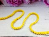 Тесьма с помпонами цв. желтый 10-12мм.