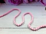 Тесьма с помпонами цв. розовый 10-12мм.