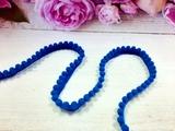 Тесьма с помпонами цв. синий 10-12мм.