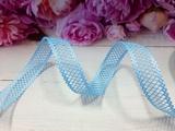 Лента декоративная цв. голубой 22 мм.