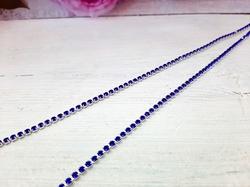 Цепочка из страз цв. синий  2,5мм. (1м.)
