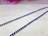 Цепочка из страз цв. синий  3,0мм. (1м.)