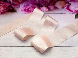 Лента текстильная металлик цв. золото 40 мм.