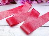 Лента текстильная металлик цв. красный 40 мм.