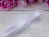 Лента из органзы с сатиновой полосой цв. белый 25 мм.