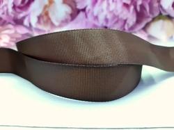 Репсовая лента цв. коричневый 25 мм.