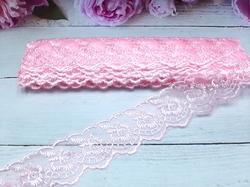 Кружево капроновое цв. светло-розовый 45мм.