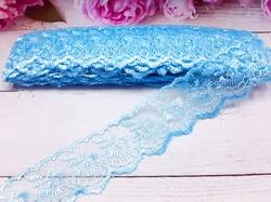 Кружево капроновое цв. светло-голубой 45мм.