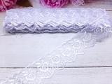 Кружево капроновое цв. белый 45мм.