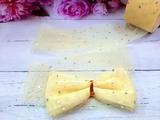 Лента фатиновая с пайетками цв. светло-желтый 60мм.