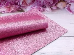 Искусственная кожа с глиттером цв.розовый 20х30см.