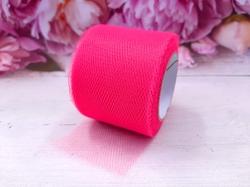 Лента из фатина цв. ярко-розовый 50 мм.