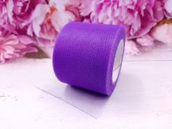 Лента из фатина цв. темно-фиолетовый 50 мм.