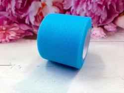 Лента из фатина цв. голубой 50 мм.