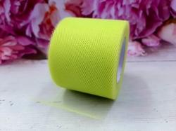 Лента из фатина цв. лимонный 50 мм.