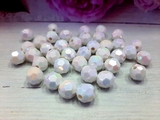 Бусины граненые перламутровые цв. белый D 10мм (50 шт.)