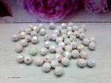 Бусины граненые перламутровые цв. белый D 8мм (100 шт.)