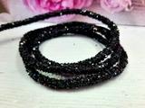 Декоративный силиконовый шнур с пайетками цв. черный 6 мм. отверстие - 2мм.(0,5м.)