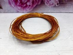 Декоративный плетеный шнур цв. золото 1 мм.(10м.)