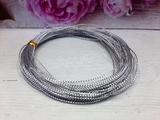 Декоративный плетеный шнур цв. серебро 1 мм.(10м.)