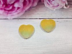 "Кабошон акриловый ""Мармелад"" сердце цв. желтый градиент 17х18мм."