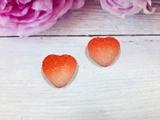 "Кабошон акриловый ""Мармелад"" сердце цв. красный градиент 17х18мм."