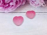 "Кабошон акриловый ""Мармелад"" сердце цв. розовый градиент 17х18мм."