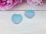 "Кабошон акриловый ""Мармелад"" сердце цв. голубой градиент 17х18мм."