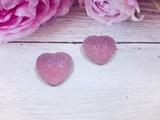 "Кабошон акриловый ""Мармелад"" сердце цв. сиреневый градиент 17х18мм."