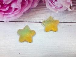 "Кабошон акриловый ""Мармелад"" звезда цв. желтый градиент 17х18мм."