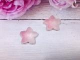 "Кабошон акриловый ""Мармелад"" звезда цв. розовый градиент 17х18мм."