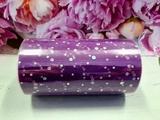 Фатин в шпульке с блестками цв. фиолетовый 12см х 25ярд.