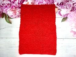 Топ-основа для платья tutu цв. красный 24х32 см.