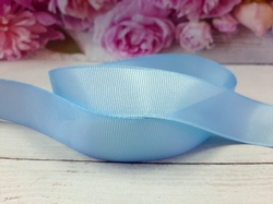 Репсовая лента цв. небесно-голубой 25 мм.