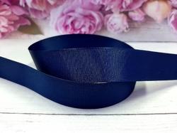 Репсовая лента цв. темно-синий (370) 25 мм.