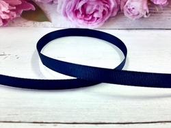 Репсовая лента цв. темно-синий (370) 9мм.