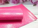 """Искусственная кожа """"соты"""" цв. ярко-розовый хамелеон 20х30см."""
