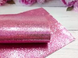 """Искусственная кожа """"соты"""" цв. темно-розовый хамелеон 20х30см."""