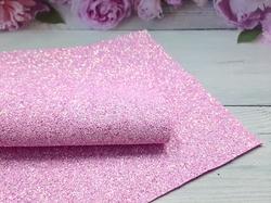 Искусственная кожа с глиттером матовая цв. розовый 20х30см.