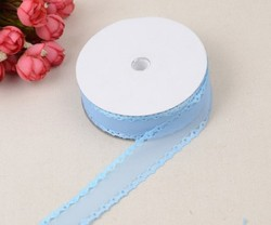 Лента декоративная цв. светло-голубой  KR-04 25 мм.