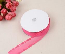 Лента декоративная цв. ярко-розовый  KR-05 25 мм.
