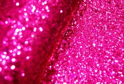 Искуственная кожа с крупным глиттером цв.ярко-розовый 20х30см.