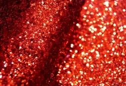 Искуственная кожа с крупным глиттером цв.красный 20х30см.