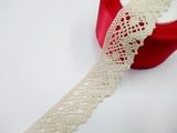 Кружево вязаное цв. льняной 30 мм.